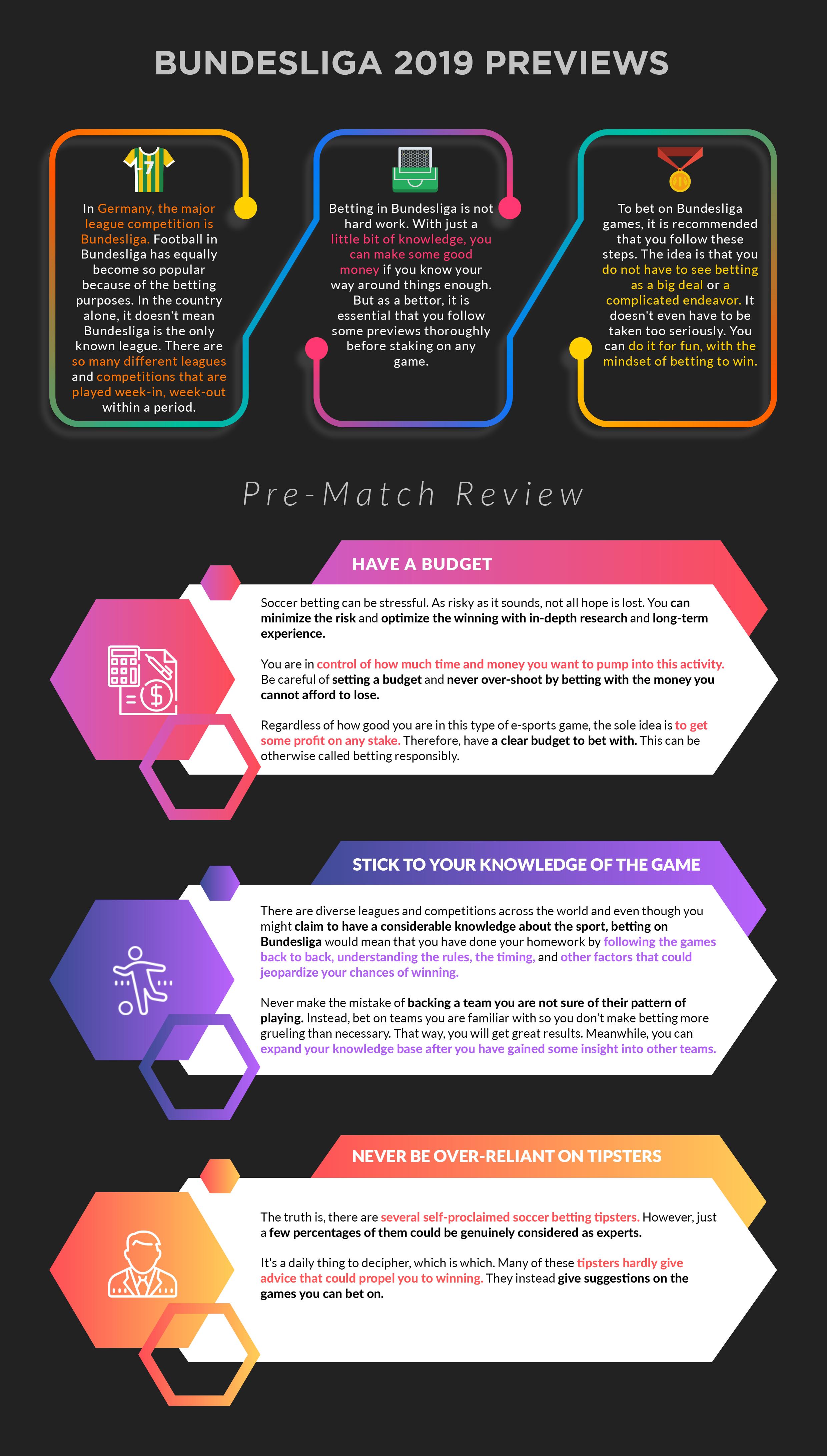 Bundesliga 2019 Previews Infographic