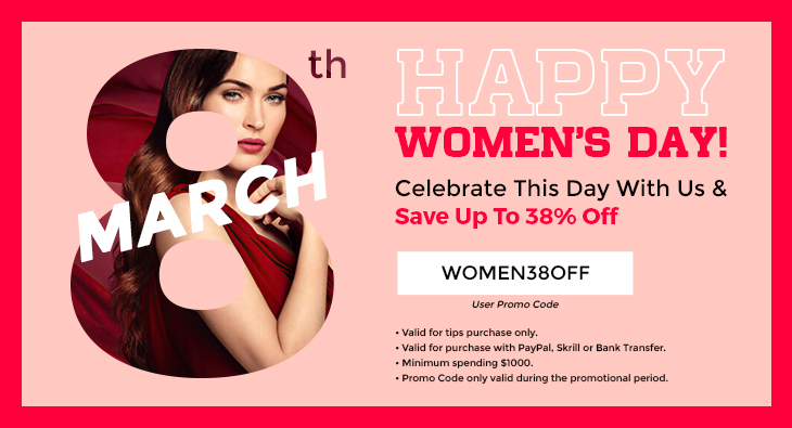 8th March Happy Women Day! Celebrate This Day With Us & Save Up To 38% Off