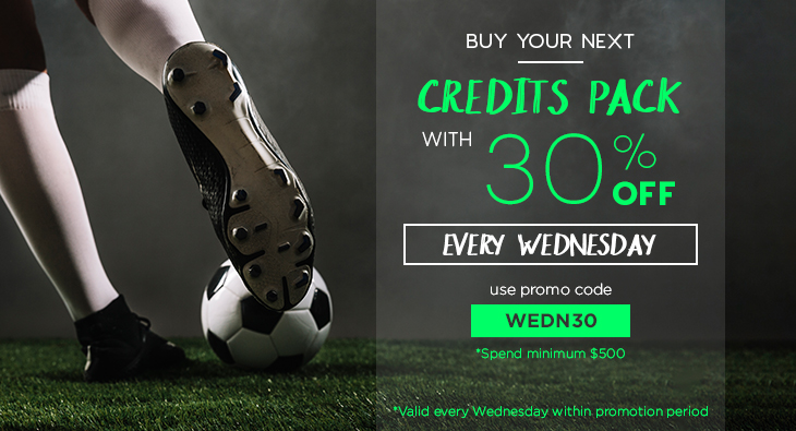 Wednesday 30% Discount