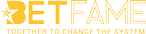 Betfame logo in yellow color